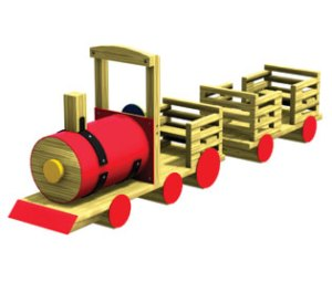Wood playground scenic rail-rider