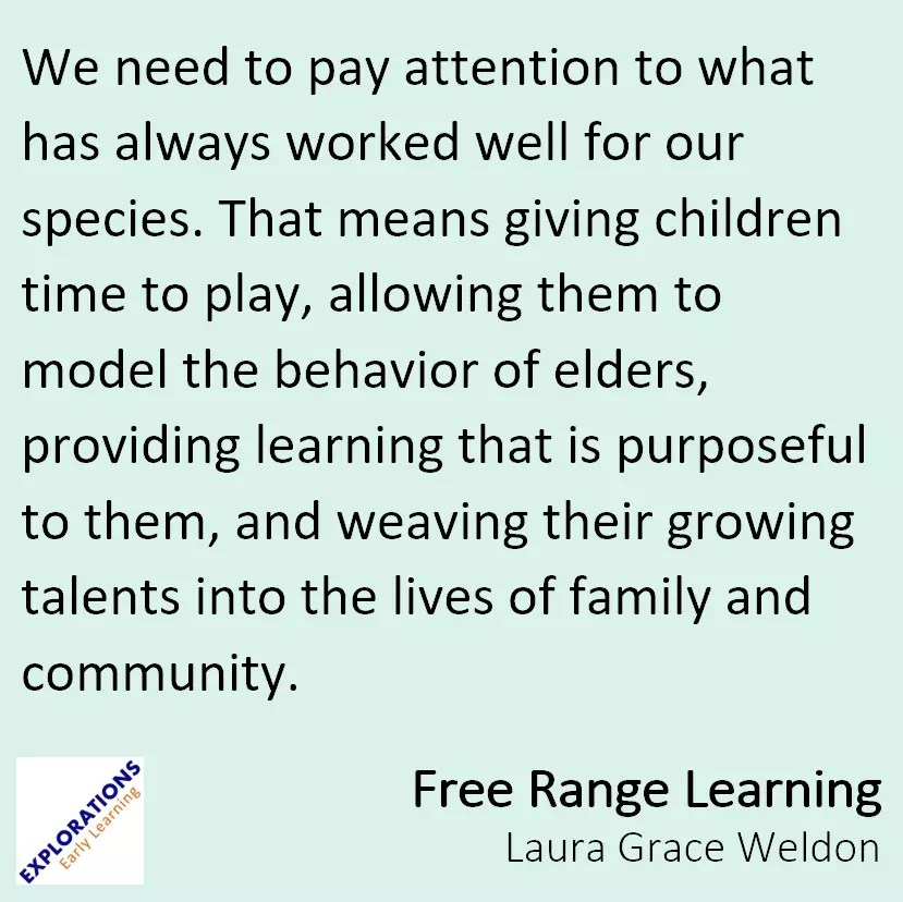 Free Range Learning Quote 1986 Playvolution Hq
