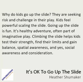 Its Ok To Go Up The Slide Quote 2038 Playvolution Hq