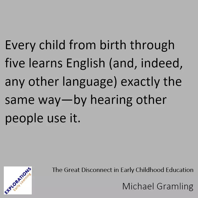 The Great Disconnect In Early Childhood Education Quote 2080