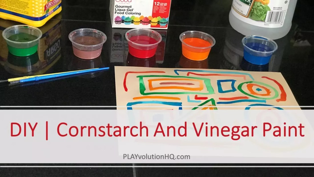 Cornstarch And Vinegar Paint