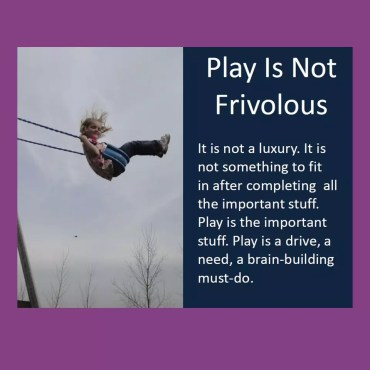 Play Is Not Frivolous Poster Download