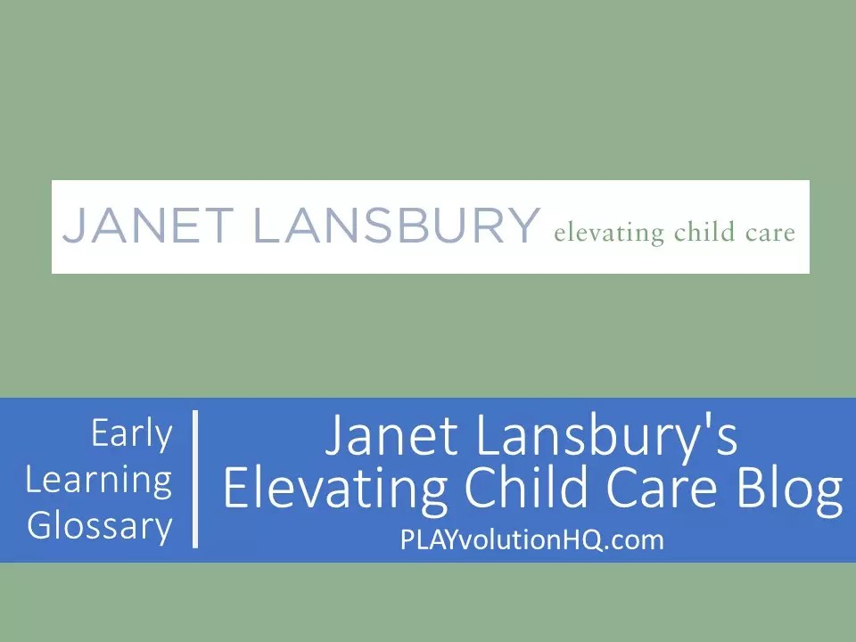 Janet Lansbury's Elevating Child Care Blog