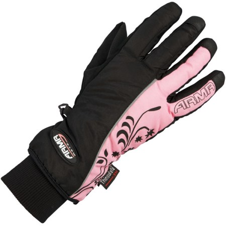 Armr Moto LWP225 Motorcycle Gloves Black/Pink