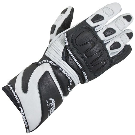 Armr Moto S550 Motorcycle Gloves Black/White