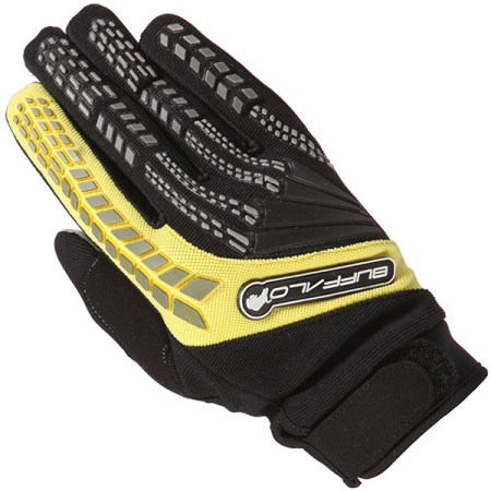 Buffalo Focus Motocross Gloves Black/Yellow