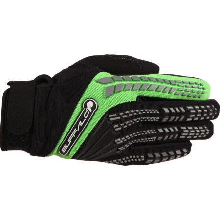 Buffalo Focus Motocross Gloves Black/Green