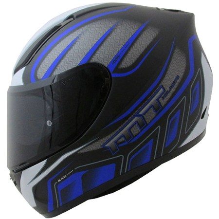 MT Revenge Alpha Motorcycle Helmet Matt Black/Blue