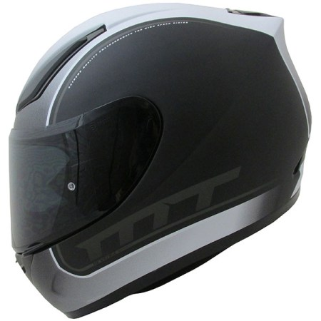 MT Revenge Binomy Motorcycle Helmet Black/White