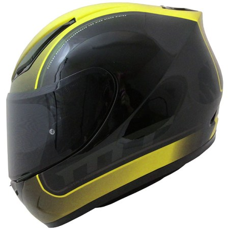 MT Revenge Binomy Motorcycle Helmet Black/Yellow