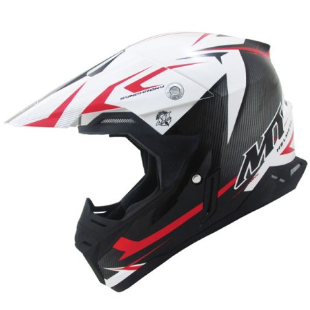 MT Synchrony Steel Motocross Helmet Black/Red