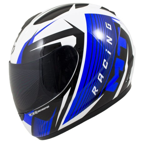 MT Thunder Axe Motorcycle Helmet Blue