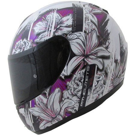 MT Thunder Wild Garden Motorcycle Helmet Purple