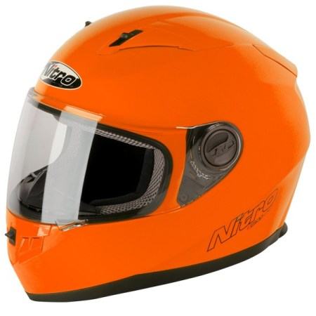 Nitro N2100 Uno Motorcycle Helmet Orange