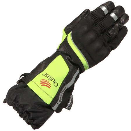 Weise Outlast Strada Motorcycle Gloves Black/Yellow