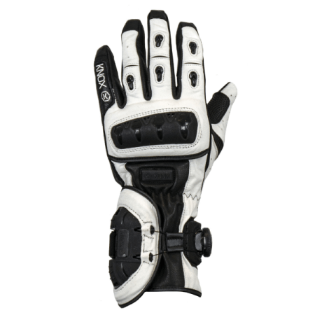 Knox Nexos Motorcycle Gloves White