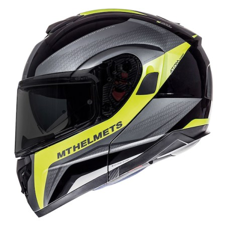 MT Atom Tarmac Motorcycle Helmet Yellow