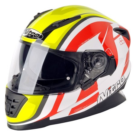 Nitro NRS-01 Pursuit Motorcycle Helmet White