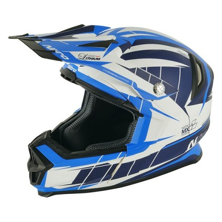 Nitro NRS MX Lithium Motocross Helmet Matt Blue