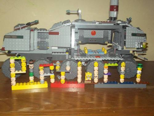 2nd Place: Katy, Play-Well LEGO Heads and  Star Wars Transport