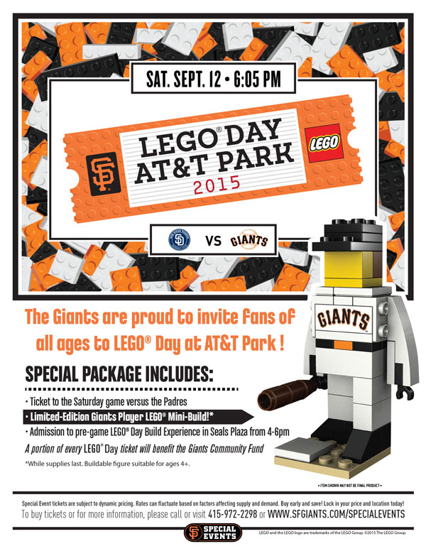 SF Giants LEGO Day