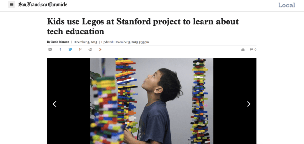 SF Chronicle LEGO Spinal Column Event
