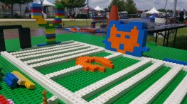 The Training Camp Field made out of LEGO