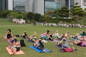 20150502 - Cora Tamar Park Yoga II - 536