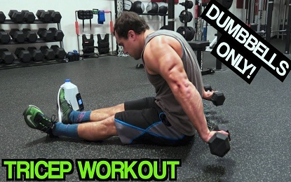 15 Minute Dumbbell Exercises For Triceps