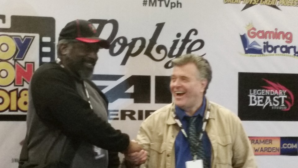 Kevin Grevioux and Neal Adams at Toycon 2018