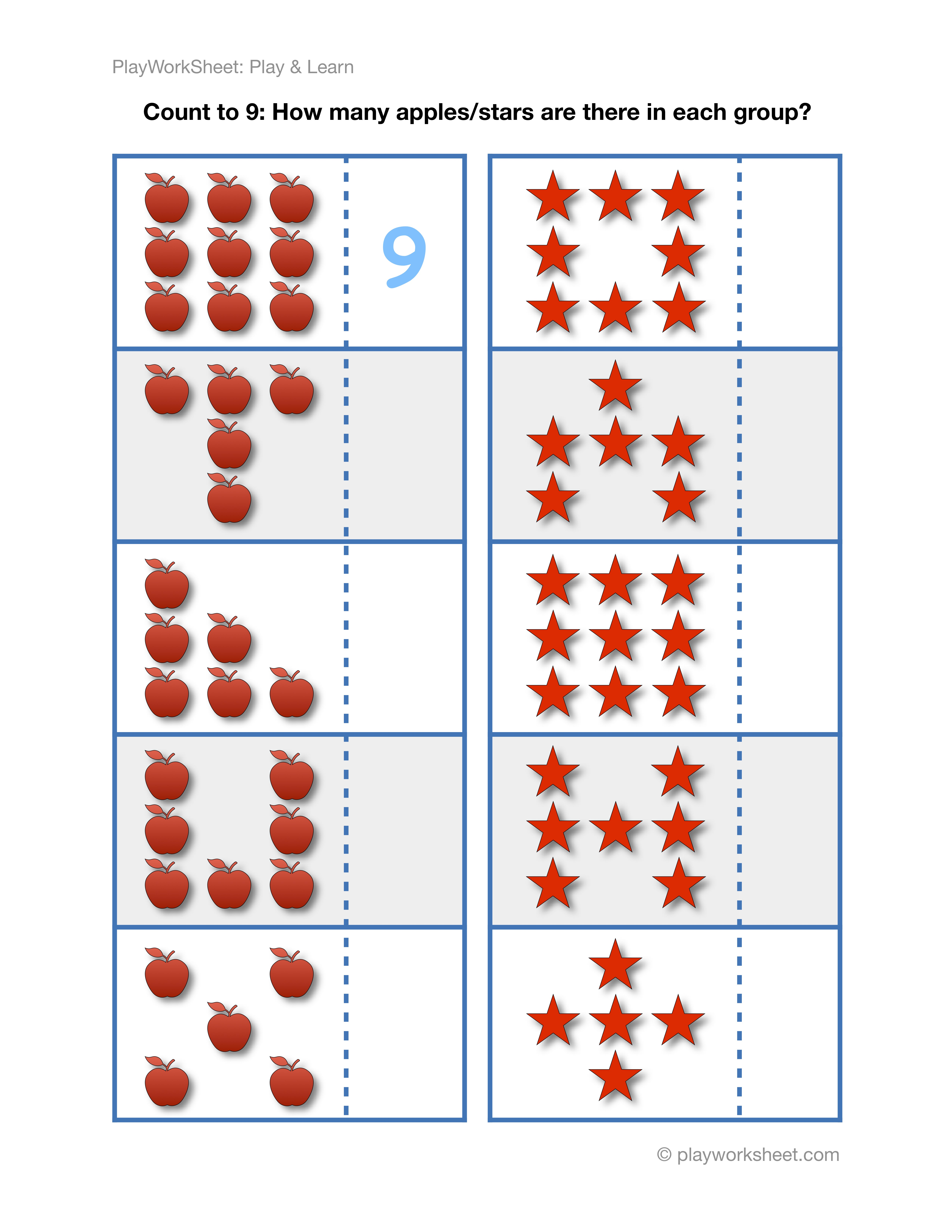 Exercises For Counting To Nine