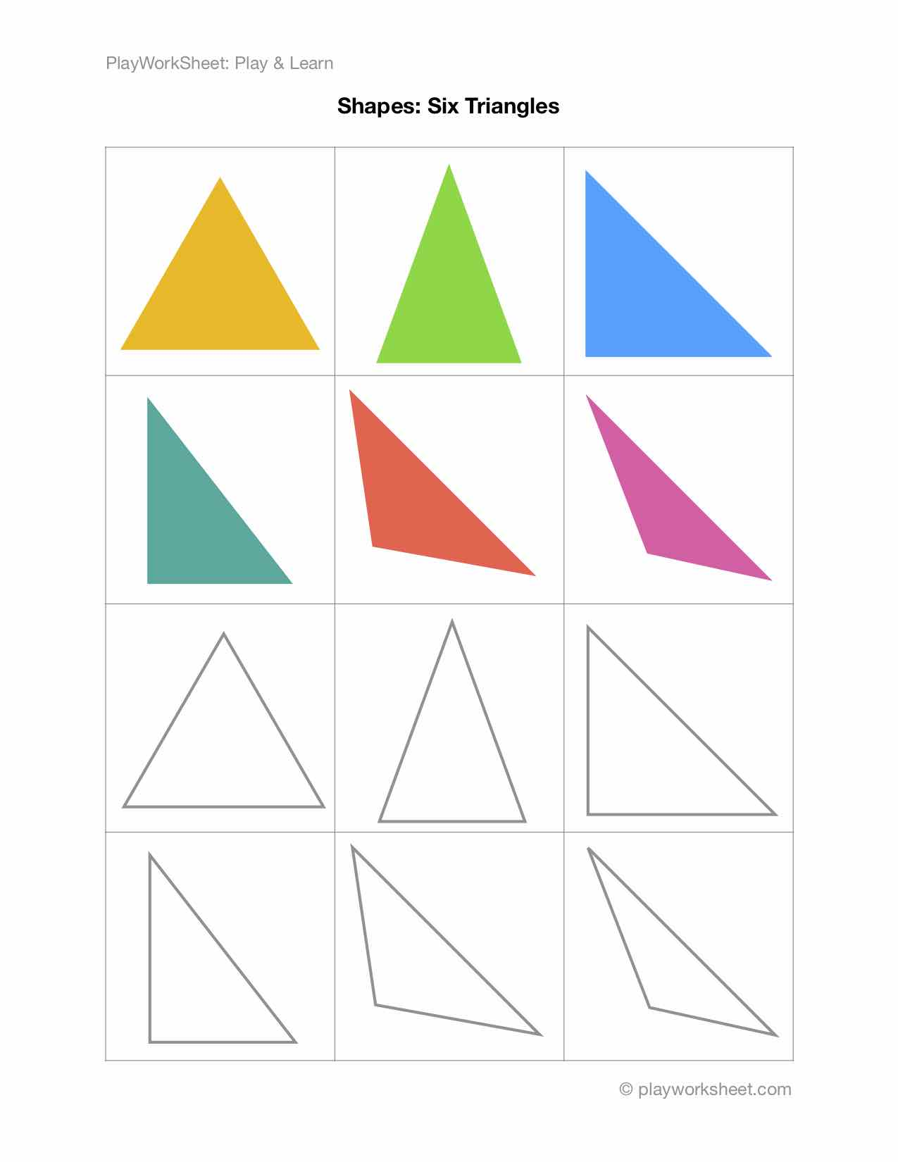 Six Different Types Of Triangles
