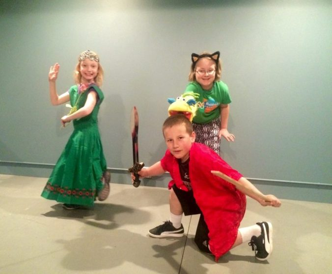 """Live action from Elana Averbach's workshop on """"Playwriting for Kids"""""""