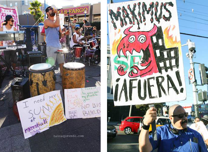 The Mission's own Bayonics and one of the brilliant signs created by Charlie ____. Photos by Hanna Quevedo.