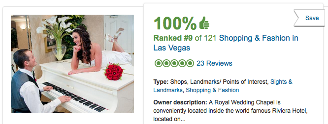 Las Vegas Wedding Chapel Reviews