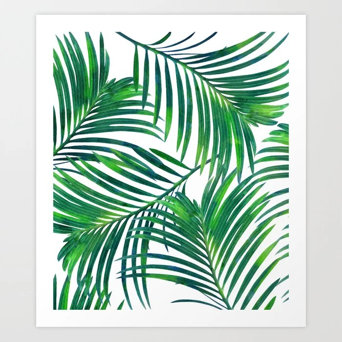 Sunday's Society6 | Palm paradise art print