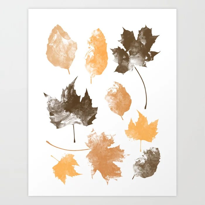 Sunday's Society6   Autumn leaves art work