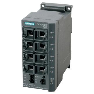 Siemens 6GK5208-0BA10-2AA3 SCALANCE X208, managed IE switch, 8x 10/100 Mbit/s