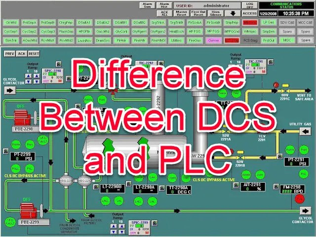 Difference between DCS and PLC