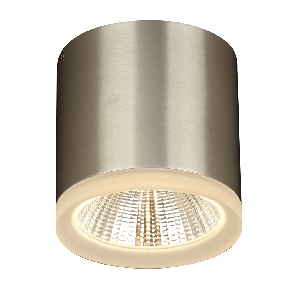 plc lighting 1 light 11w brushed aluminum non dimmable exterior light frost glass globo collection
