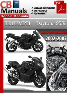 triumph daytona 955i 2007 service repair manual service. Black Bedroom Furniture Sets. Home Design Ideas