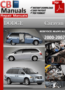 2000 dodge caravan factory service repair manual
