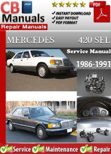 mercedes 420sel 1986 1991 workshop service manual rh digitalworkshoprepair wordpress com 1989 Mercedes 420SEL 4.2 V8 1989 Mercedes 420SEL and Interior