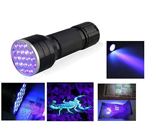 Relefree Linterna 21 LED Luz UV