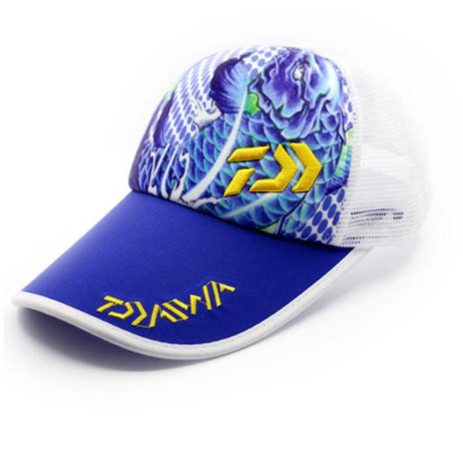 gorra daiwa azul y amarillo