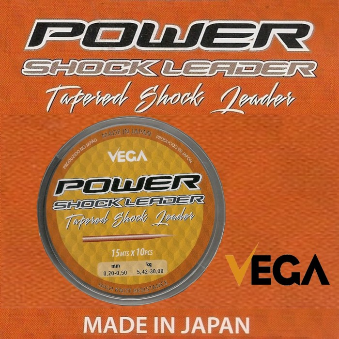 Cola de rata Vega Power Shock Leader 15m - 10ud