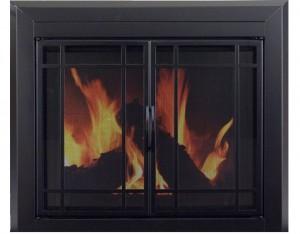 Pleasant-Hearth-EA-5010-Easton-Glass-Firescreen-Midnight-Black