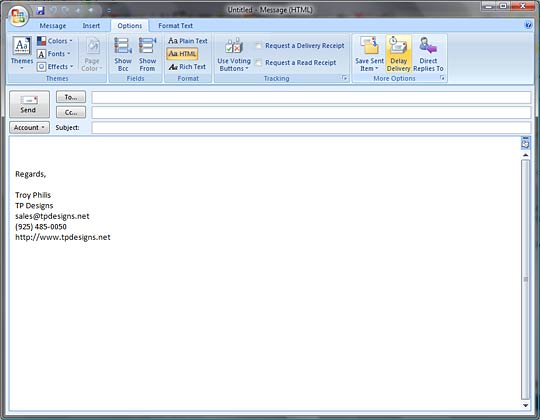 Outlook 2007 Delay