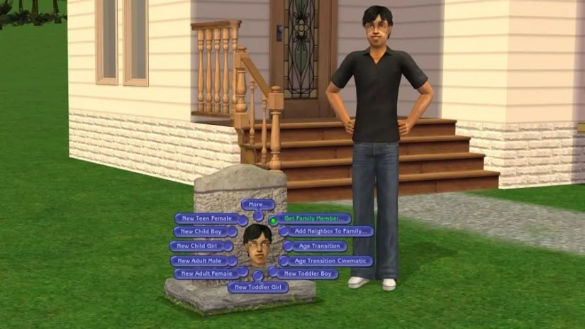 Sims 2 Tombstone of L and D - Get Family Member