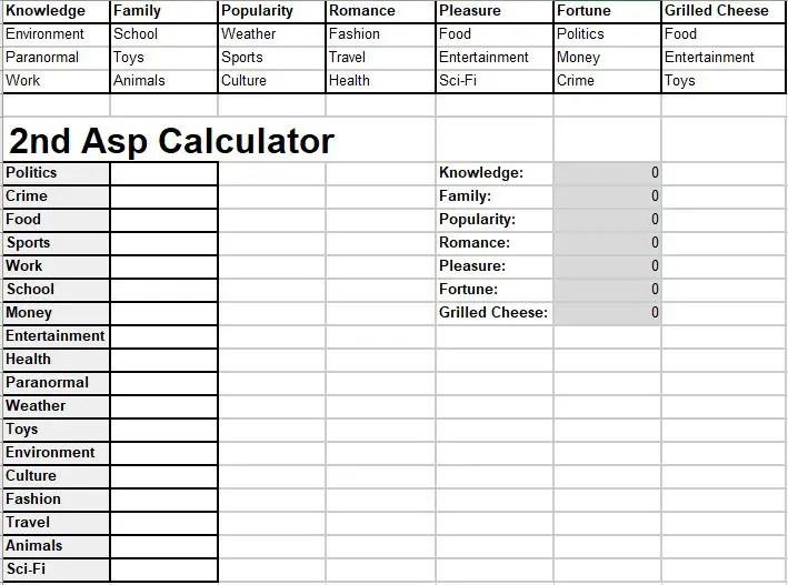 2nd Asp Calc GC
